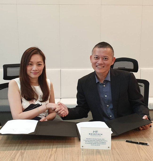 Novotech CRO partners with the Skin Research Institute of Singapore (SRIS) for skin disorders clinical research excellence