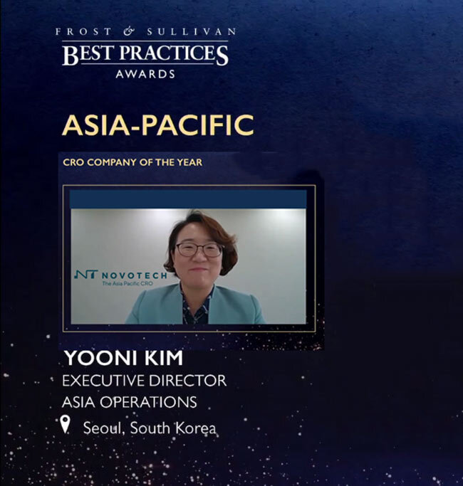Novotech the Asia-Pacific CRO Leader – Awarded '2020 Frost & Sullivan Asia-Pacific CRO Company of the Year'