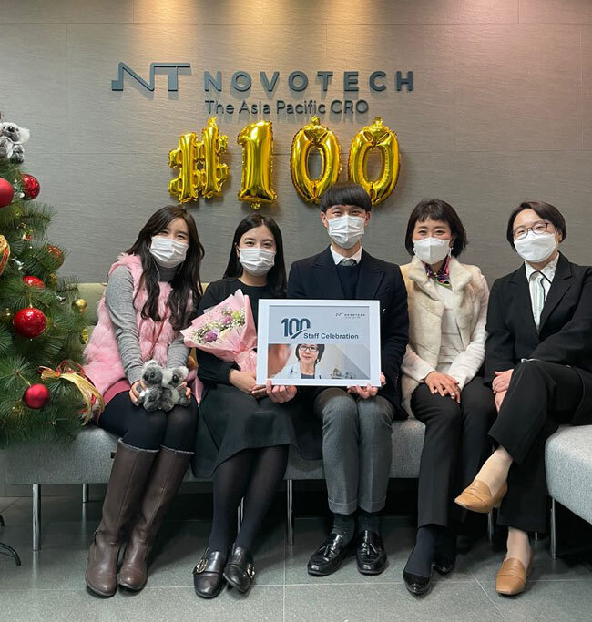 Novotech South Korea Celebrates 100th Employee
