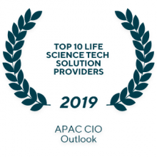 "The 2019 APAC CIO Outlook ""Top 10 Life Science Tech solution provider"""