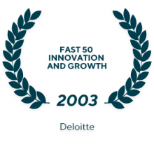 Deloitte Technology Fast 50 2003 in recognition of Innovation and Growth