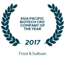 2017 Frost & Sullivan Asia Pacific Biotech CRO Company of the Year