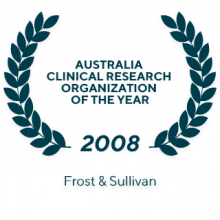 2008 Frost & Sullivan Australia Clinical Research Organization of the Year
