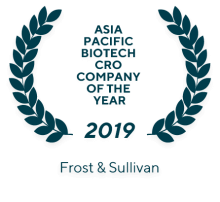 2018 Frost & Sullivan Asia Pacific Biotech CRO Company of the year