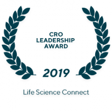 "The 2019 Life Science Connect ""CRO Leadership award"""