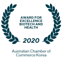 Award for Excellence Biotech and Health (2020) Australian Chamber of Commerce Korea